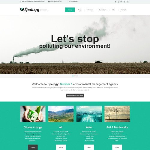 Epalogy - WordPress Template based on Bootstrap