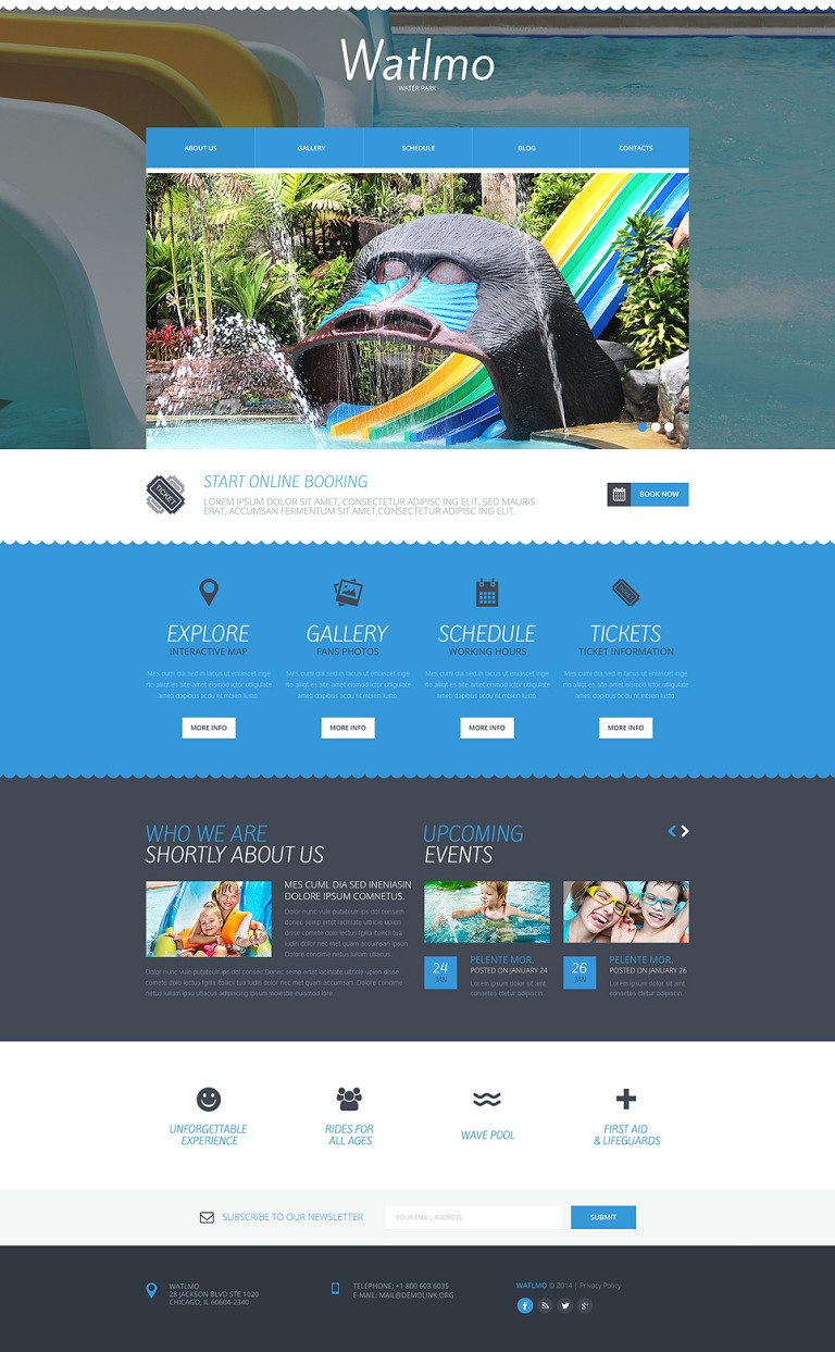 Amusement Park Responsive Website Template New Screenshots BIG