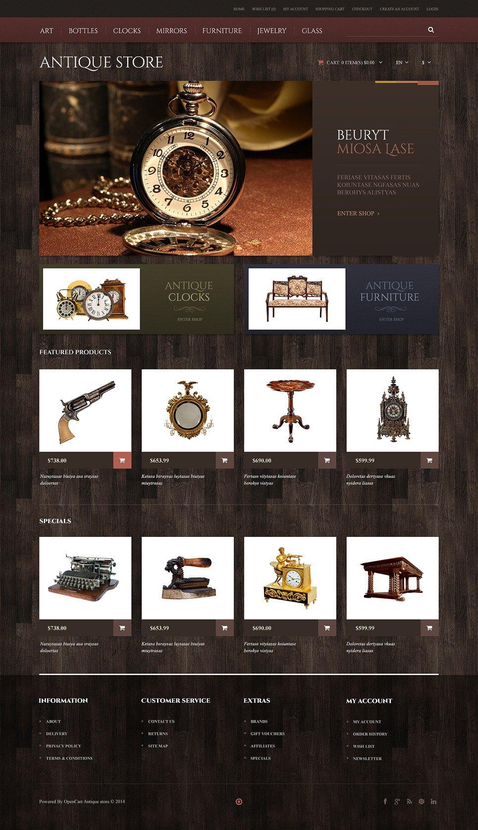 Antique Store Responsive OpenCart Template New Screenshots BIG