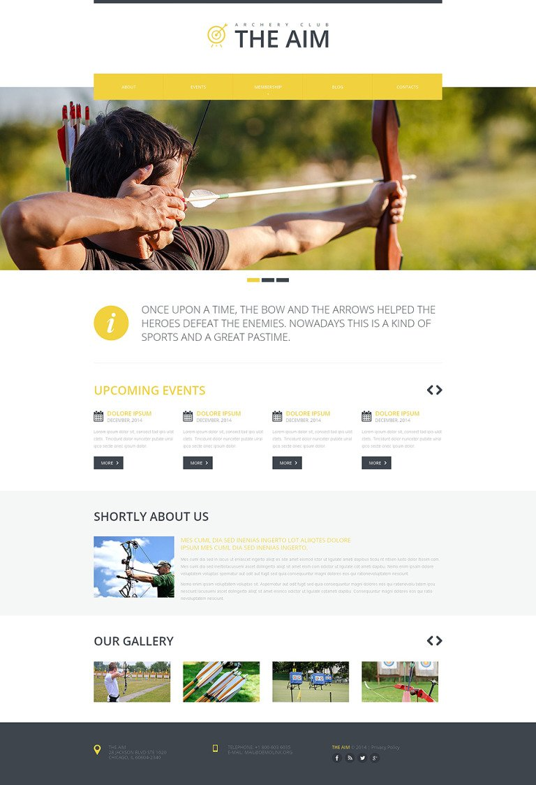 Archery Responsive Website Template New Screenshots BIG
