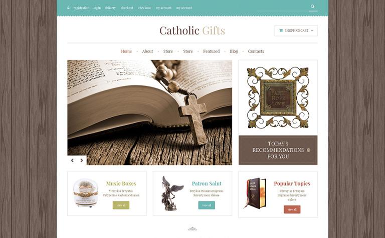 Catholic Church Responsive WooCommerce Theme