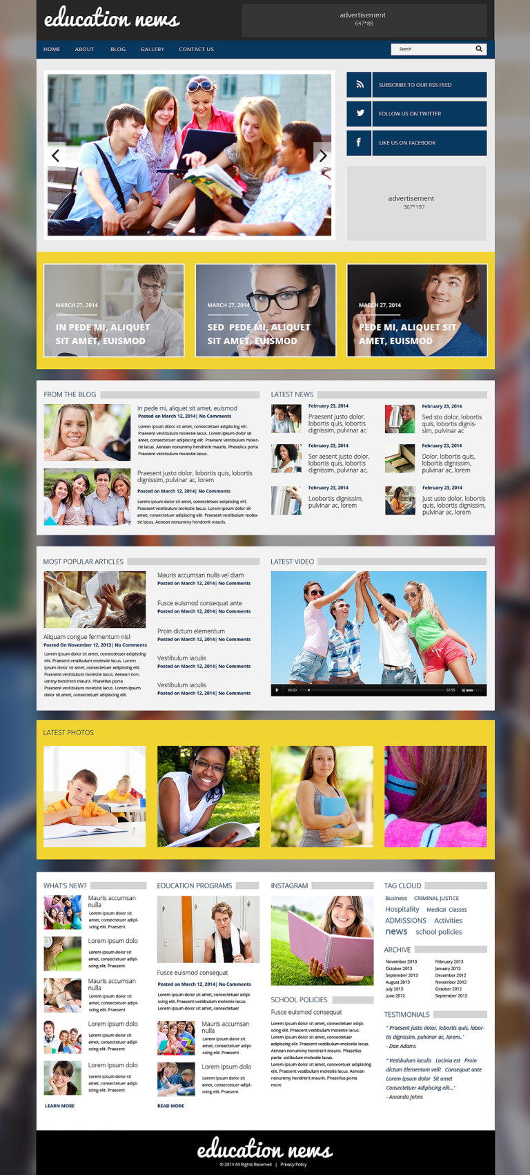 Education Responsive WordPress Theme New Screenshots BIG
