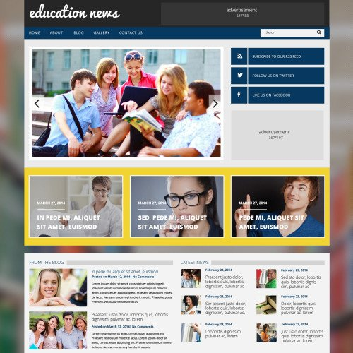 Education News - WordPress Template based on Bootstrap