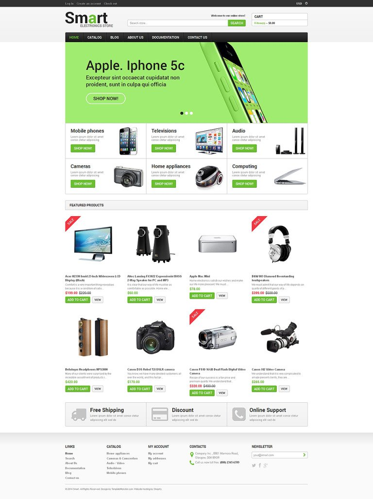 Electronics Store Responsive Shopify Theme New Screenshots BIG