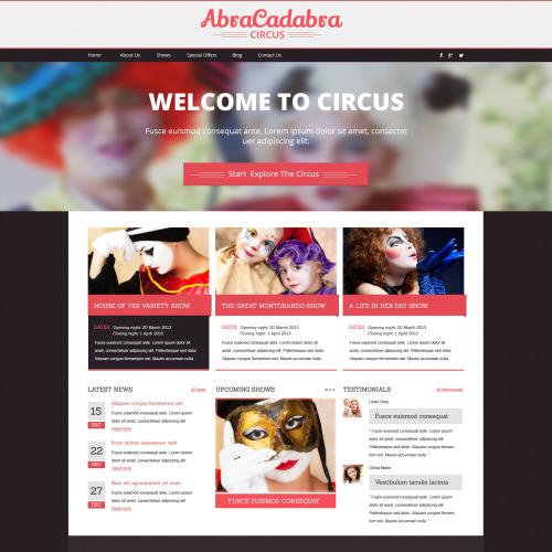 Abracadabra - HTML5 Drupal Template
