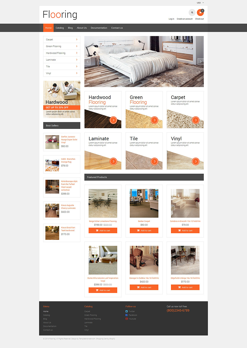 Flooring Responsive Shopify Theme New Screenshots BIG