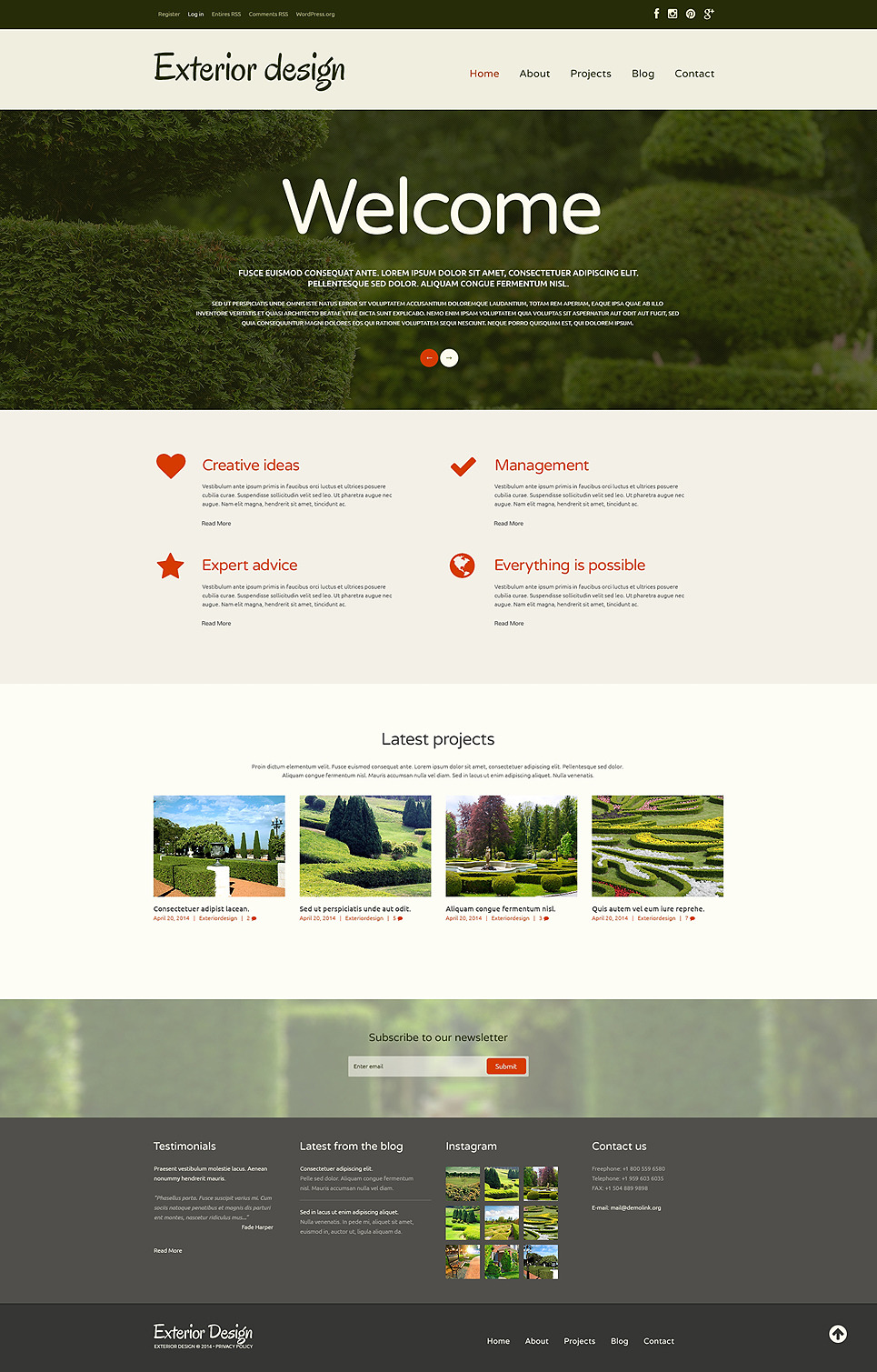 Nice Garden Design Responsive WordPress Theme New Screenshots BIG