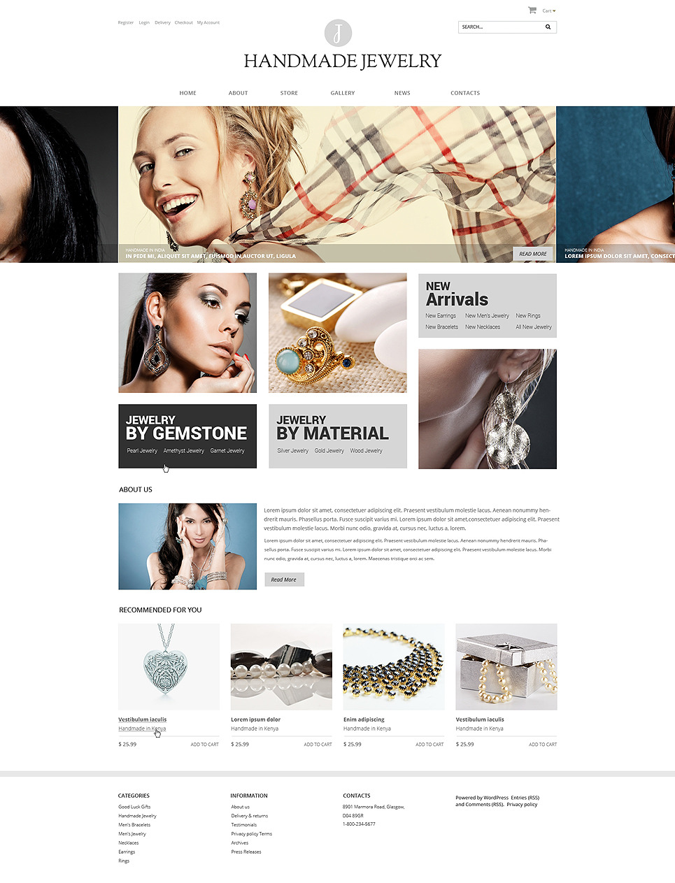 Handmade Jewelry WooCommerce Theme New Screenshots BIG