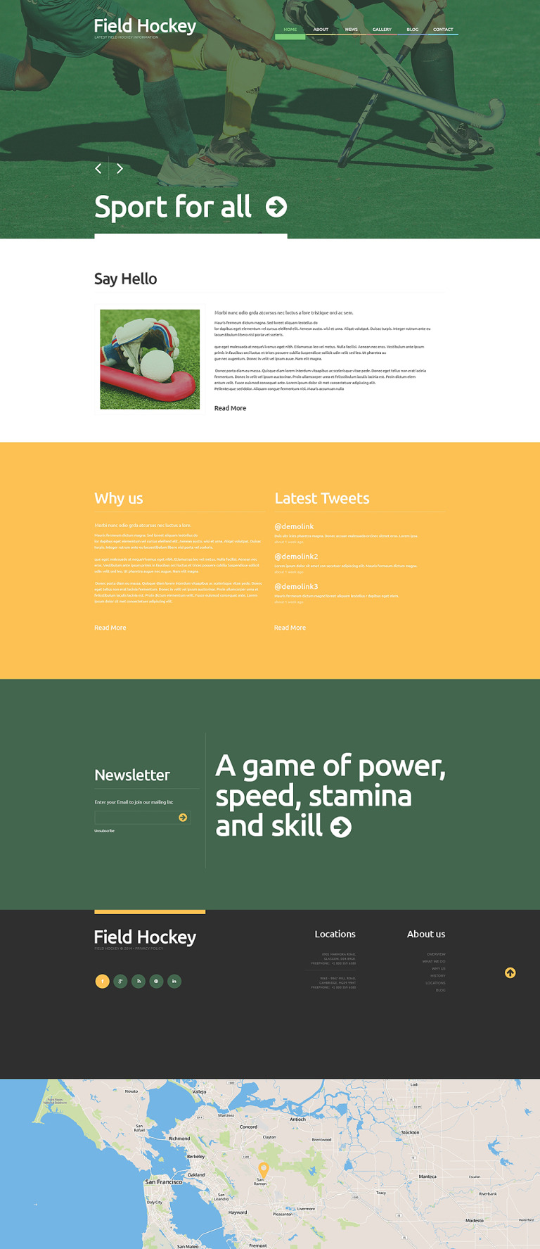 Hockey Responsive WordPress Theme New Screenshots BIG