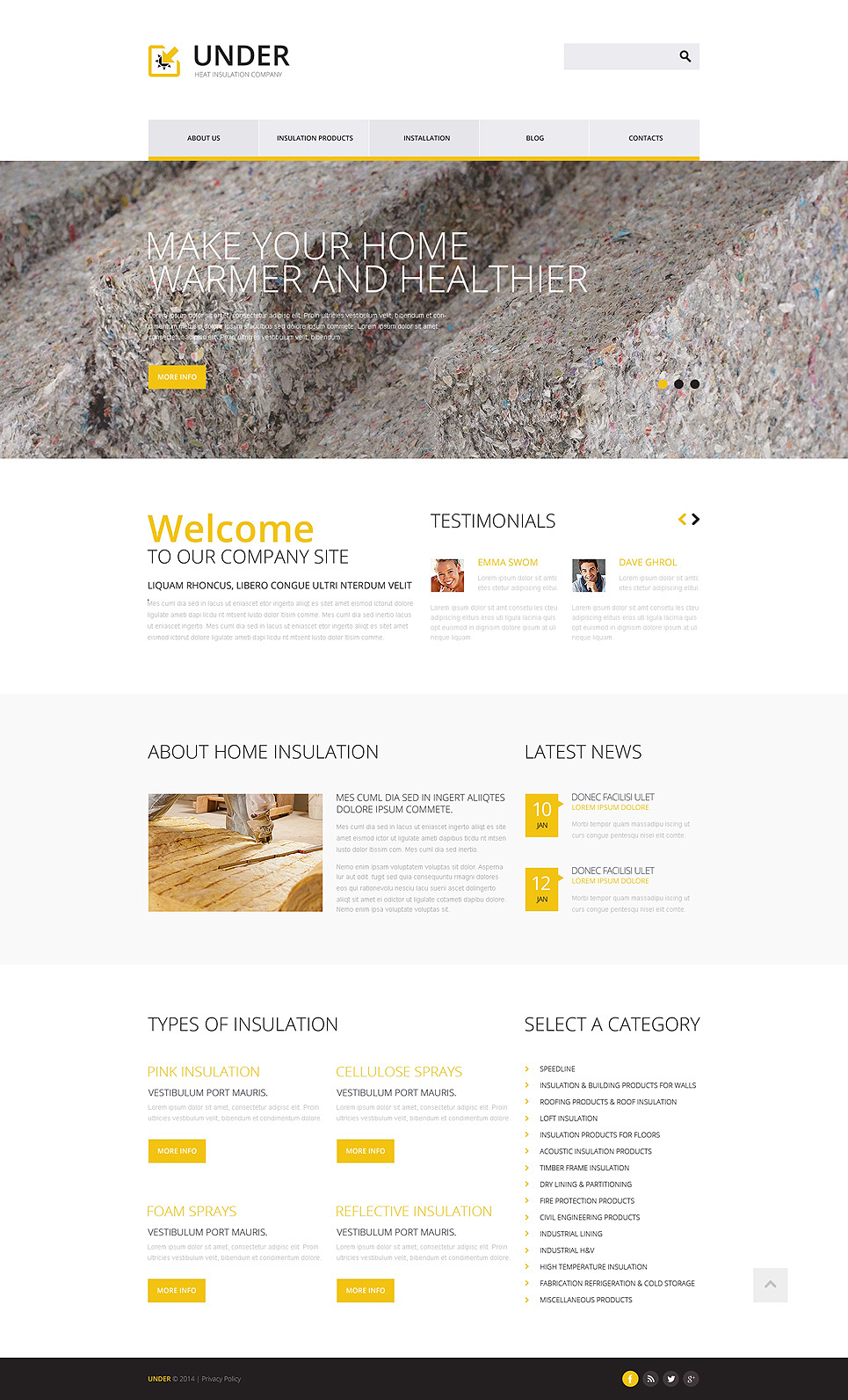 Home Remodeling Responsive Website Template New Screenshots BIG