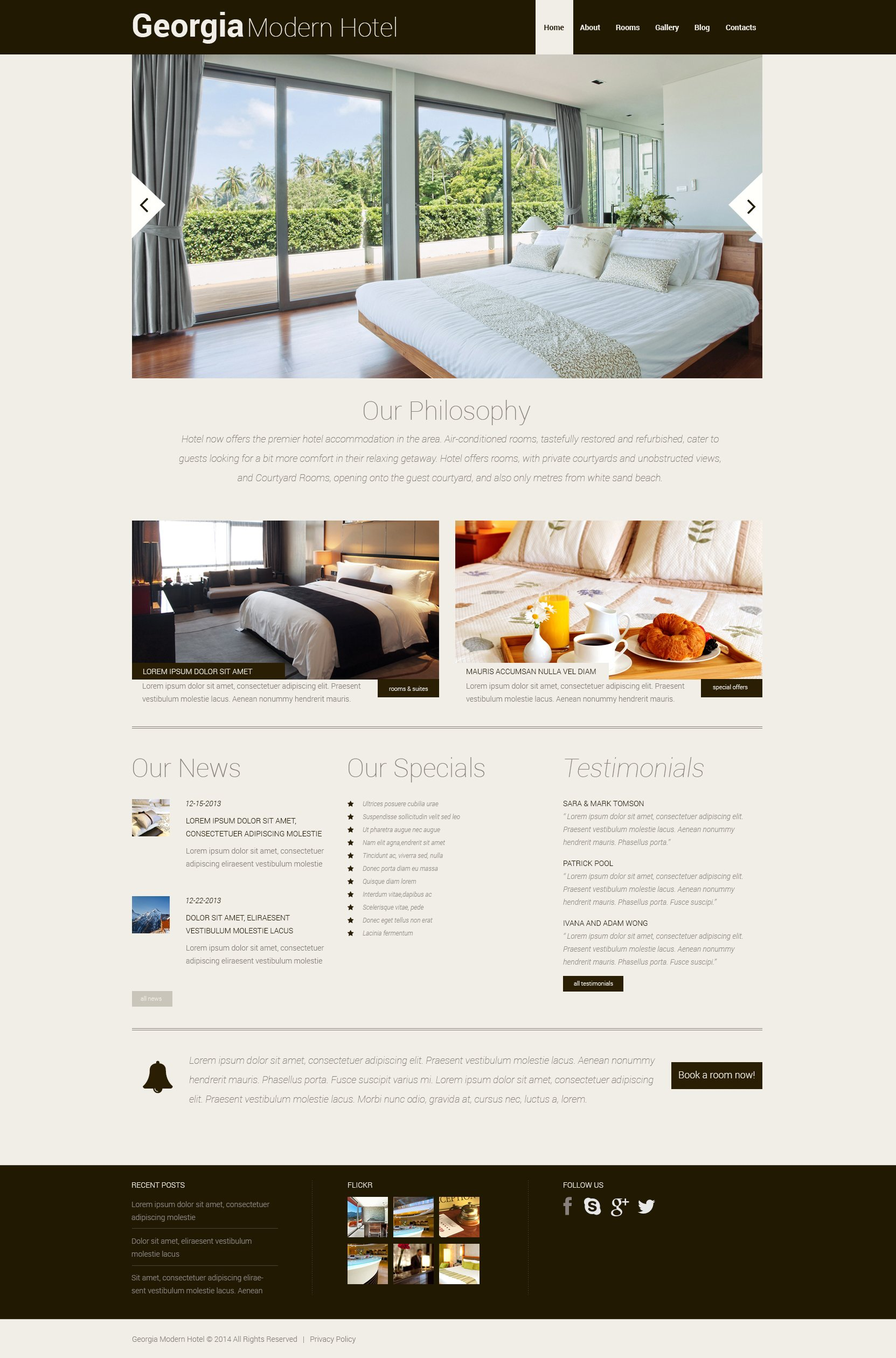 Hotels Responsive WordPress Theme - screenshot