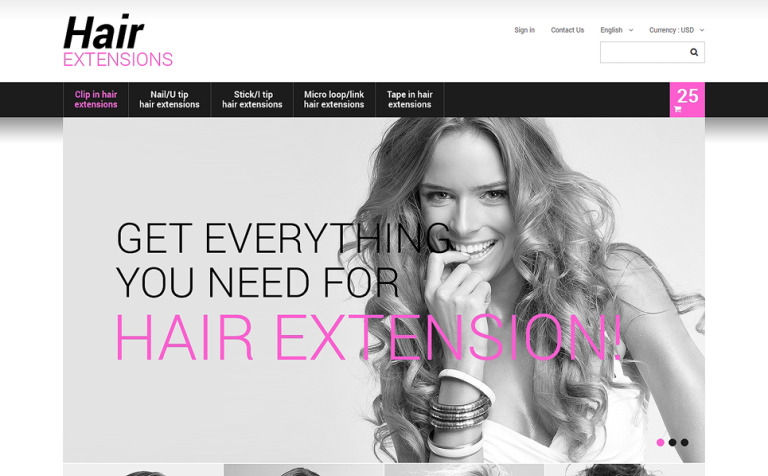 Long Hair PrestaShop Theme