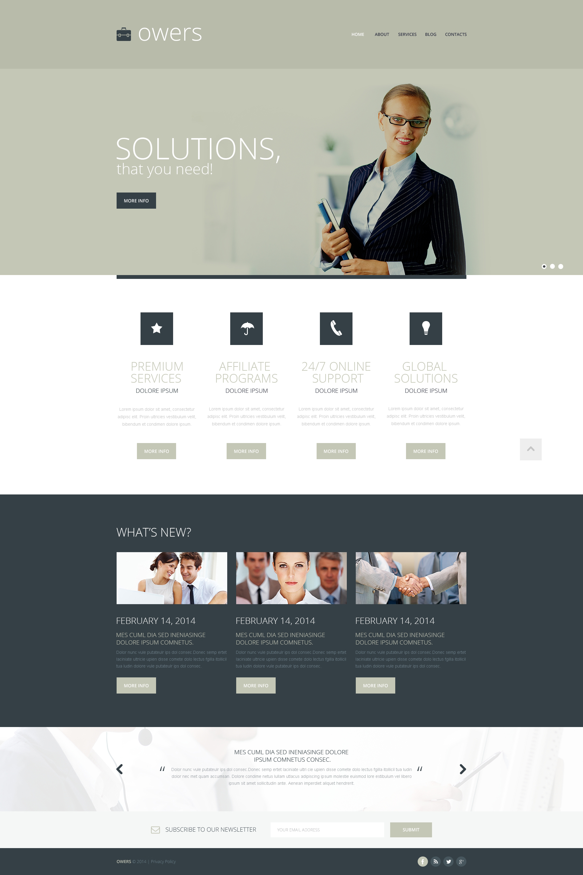 Marketing Agency Responsive Website Template #48774