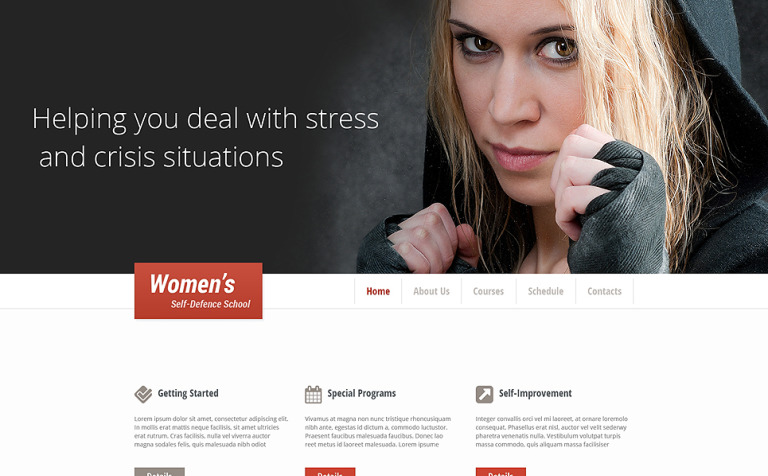 Martial Arts Responsive Website Template New Screenshots