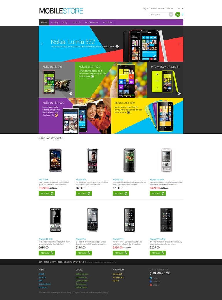 Mobile Store Responsive Shopify Theme New Screenshots BIG