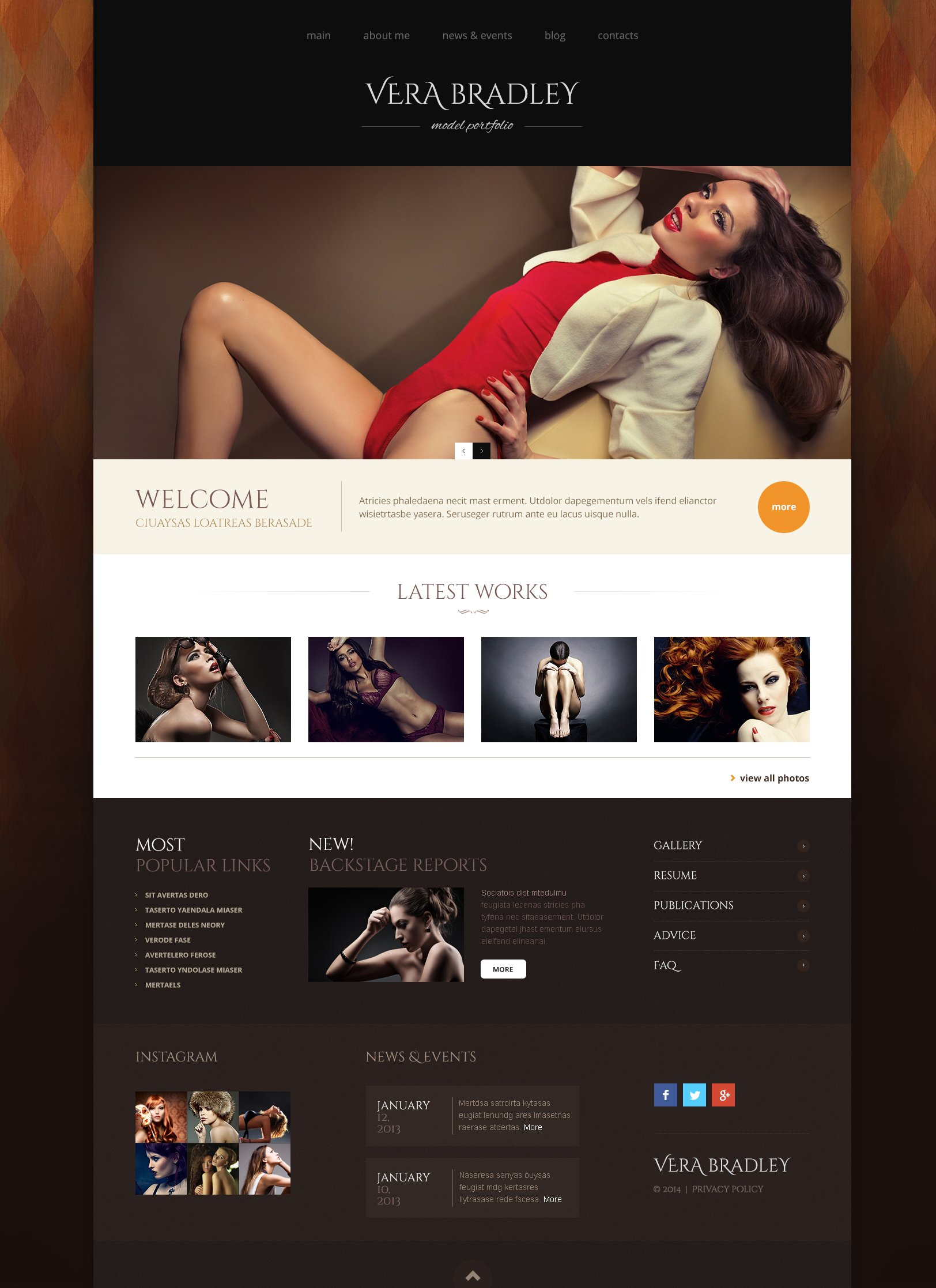 Model Agency WordPress Theme - screenshot