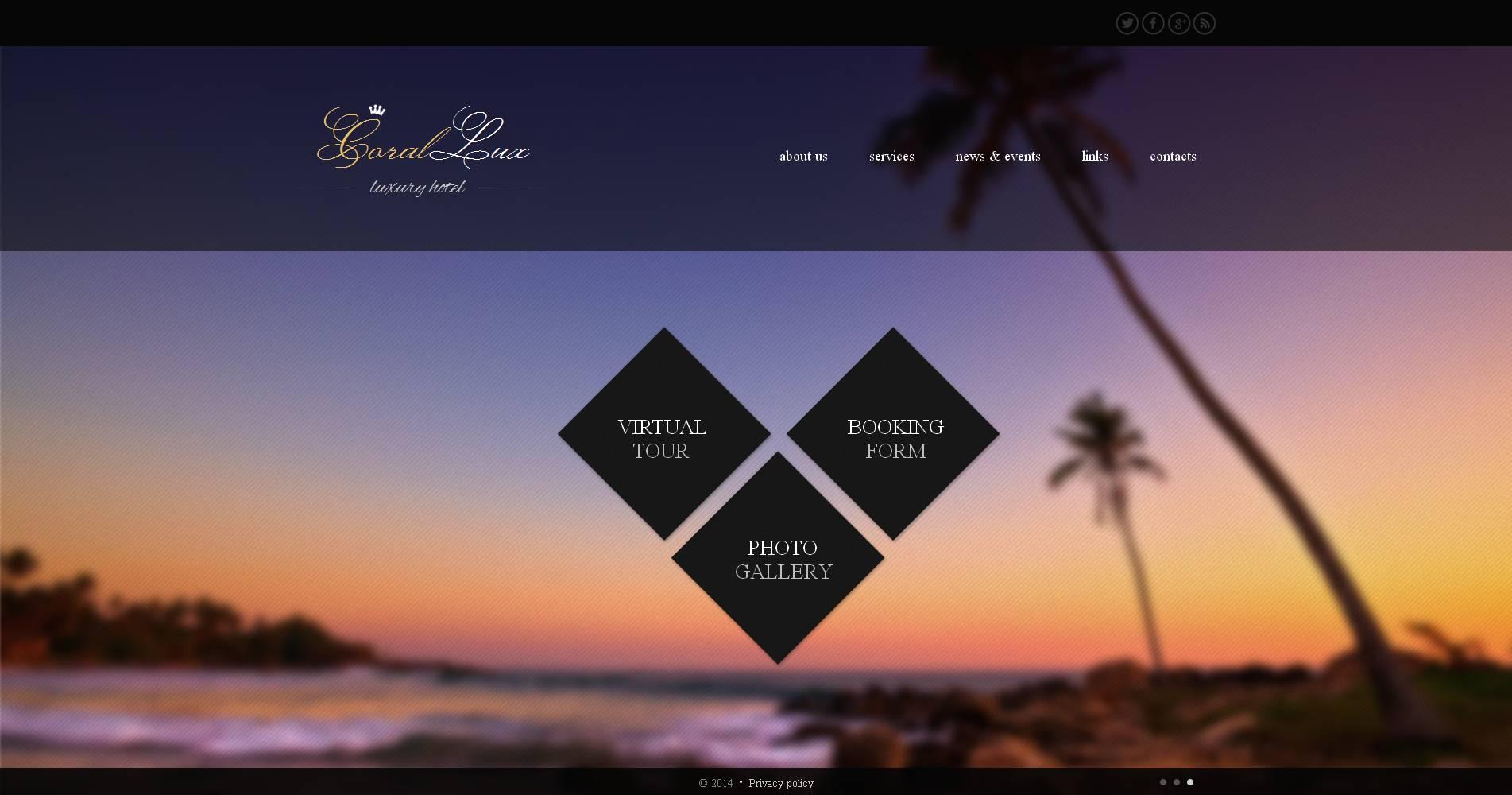 Modèle Moto CMS HTML Premium pour site d'hôtel #48723