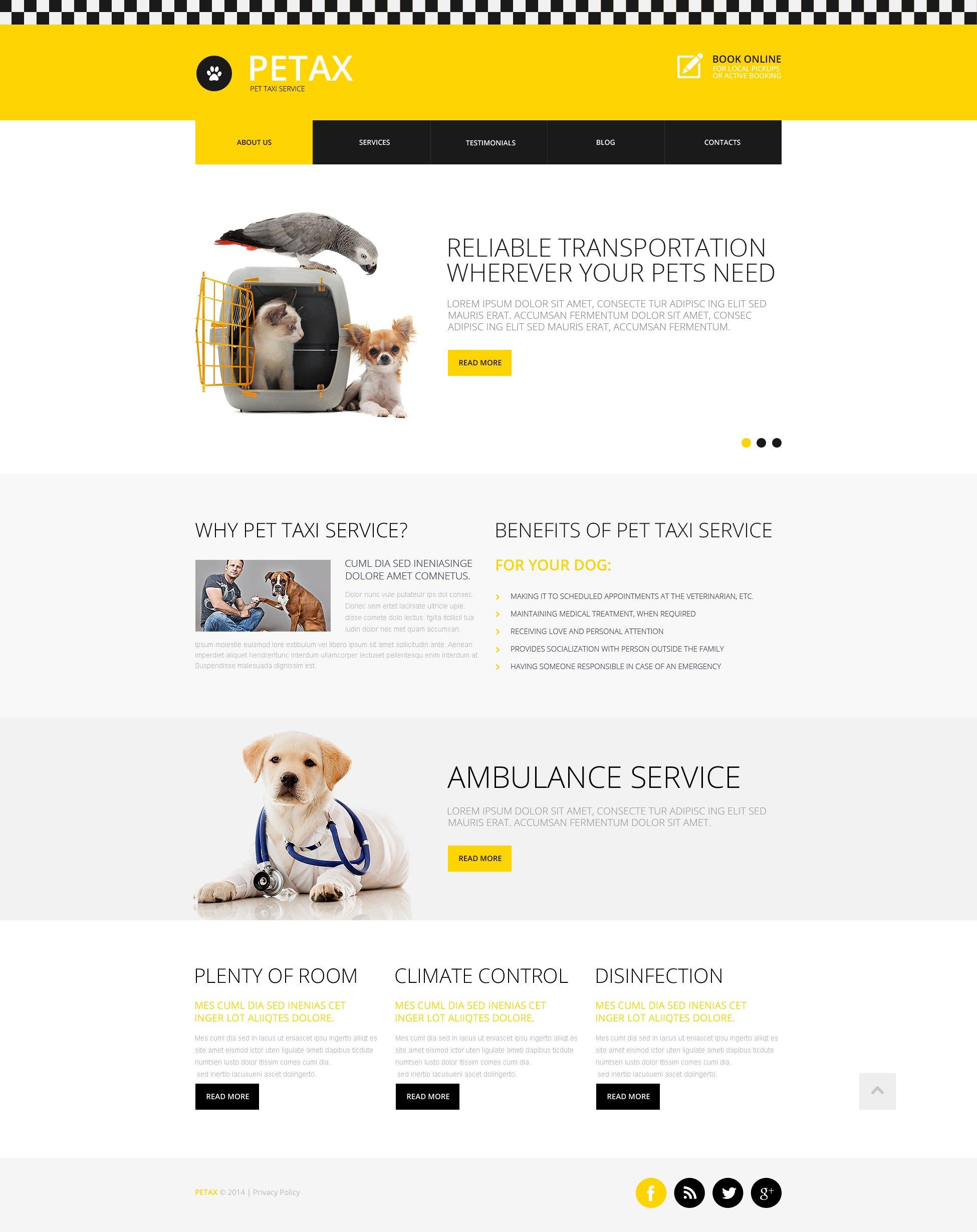 Template siti web 48773 per un sito di taxi for Siti web di costruzione domestica