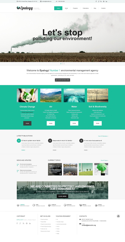 Modello WordPress Responsive #48746 per Un Sito di Energia Alternativa - screenshot
