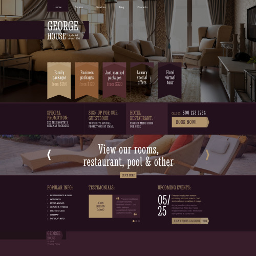 George House - WordPress Template based on Bootstrap