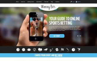 Online Betting Responsive Website Template