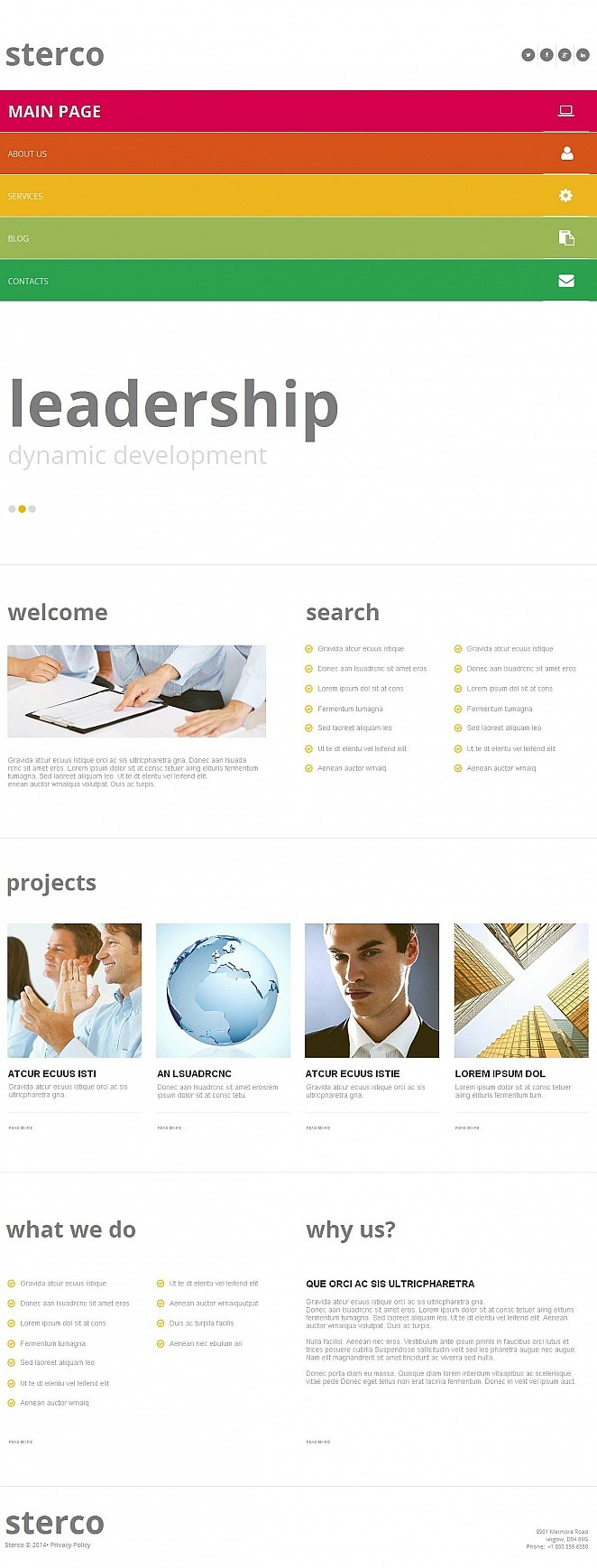 Outsourcing Company Moto CMS HTML Template New Screenshots BIG