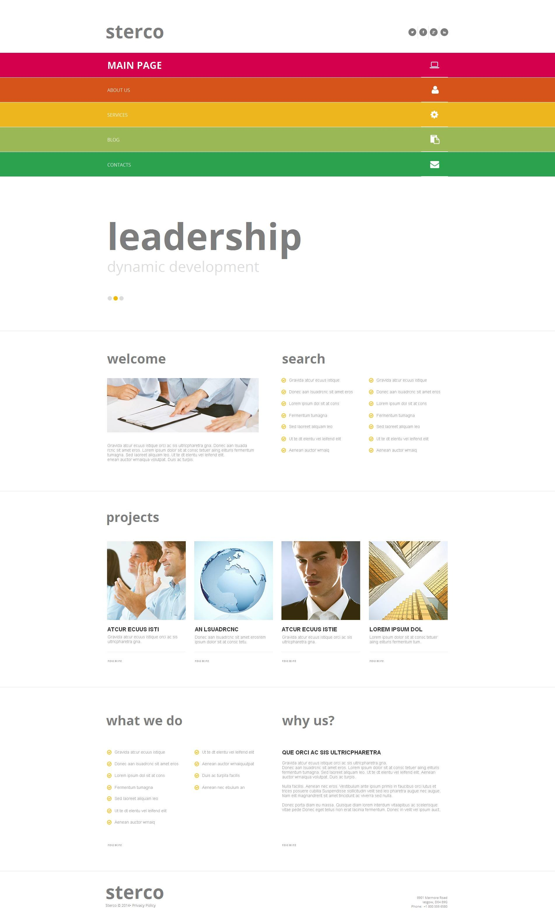 Outsourcing Company Moto CMS HTML Template