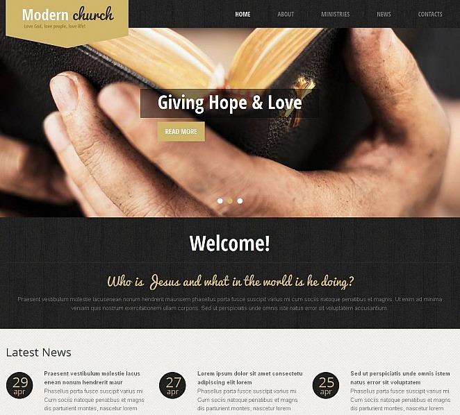 Plantilla Moto CMS HTML #48728 para Sitio de Religión New Screenshots BIG