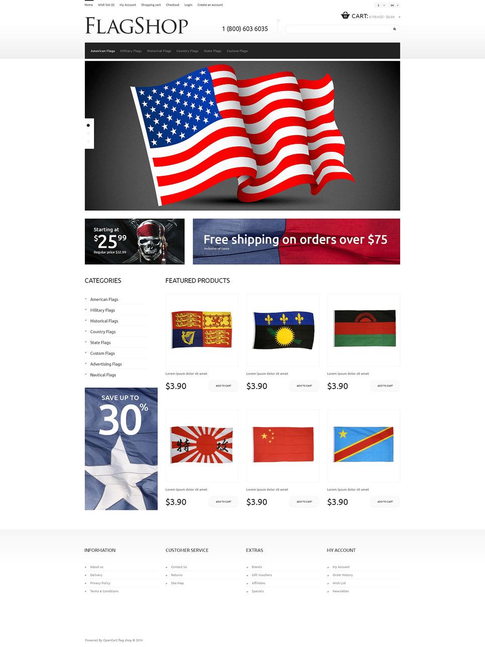 Politics Responsive OpenCart Template New Screenshots BIG