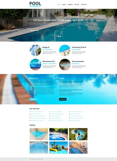 Pool Cleaning Moto CMS HTML Şablon