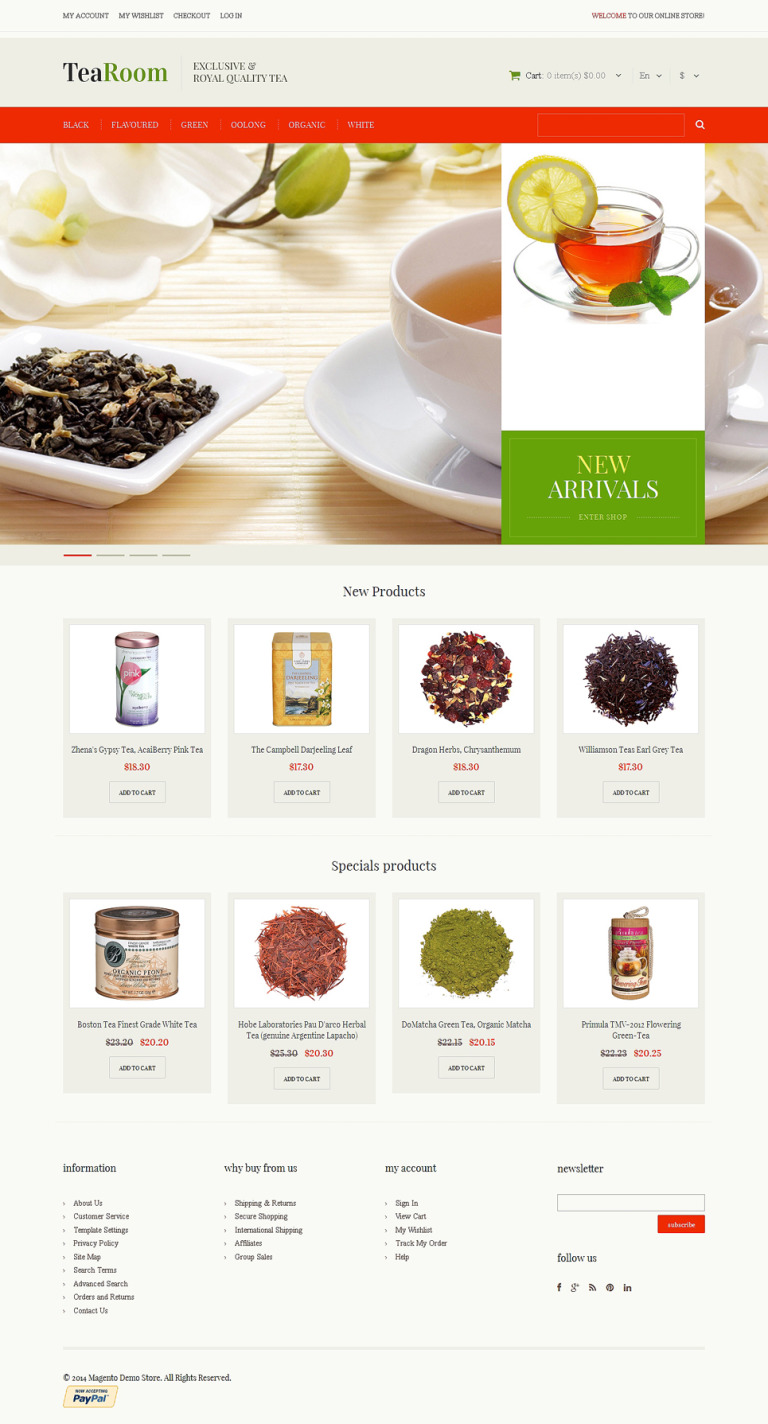 Quality Tea Magento Theme New Screenshots BIG