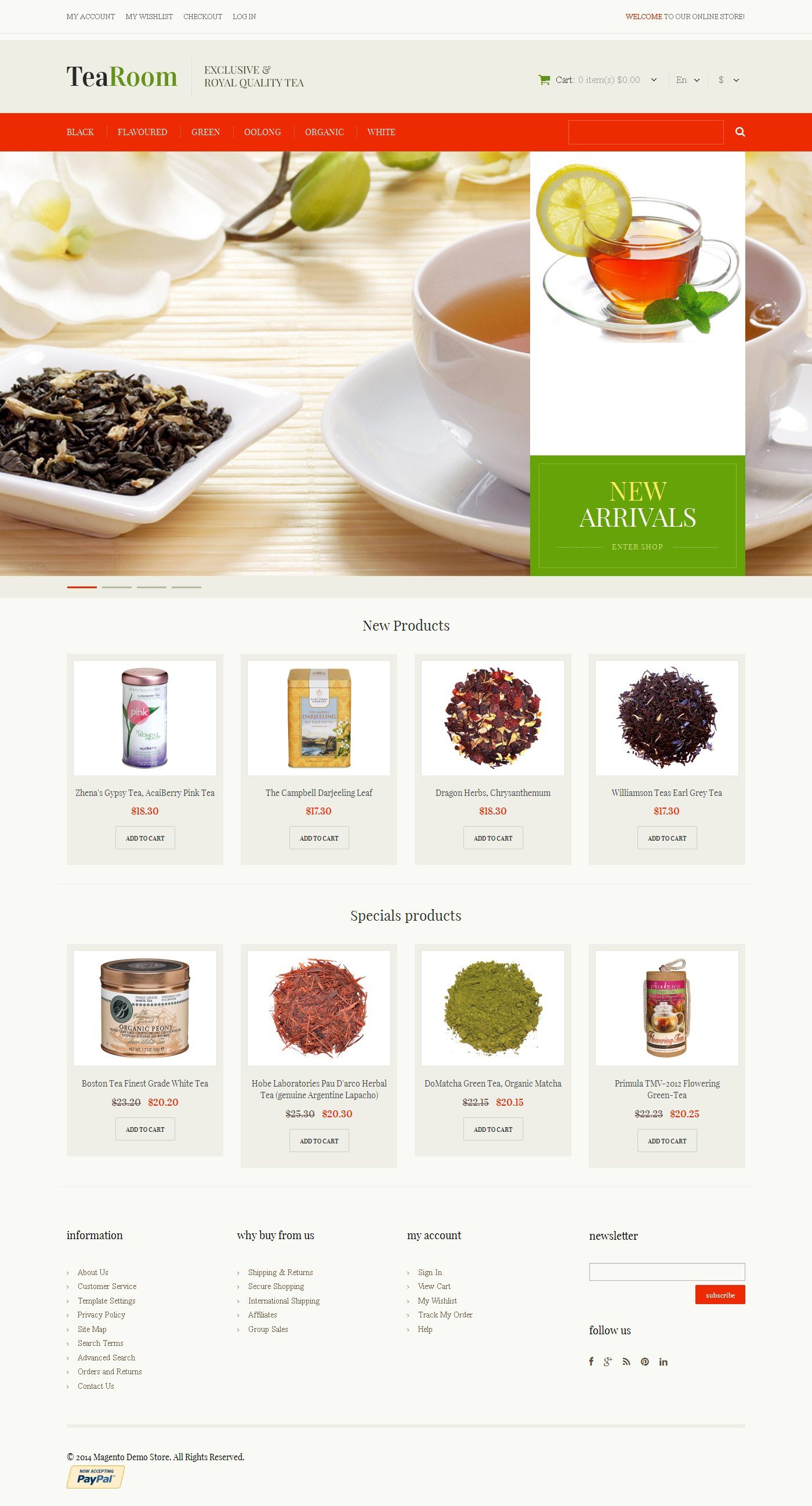 Quality Tea Magento Theme