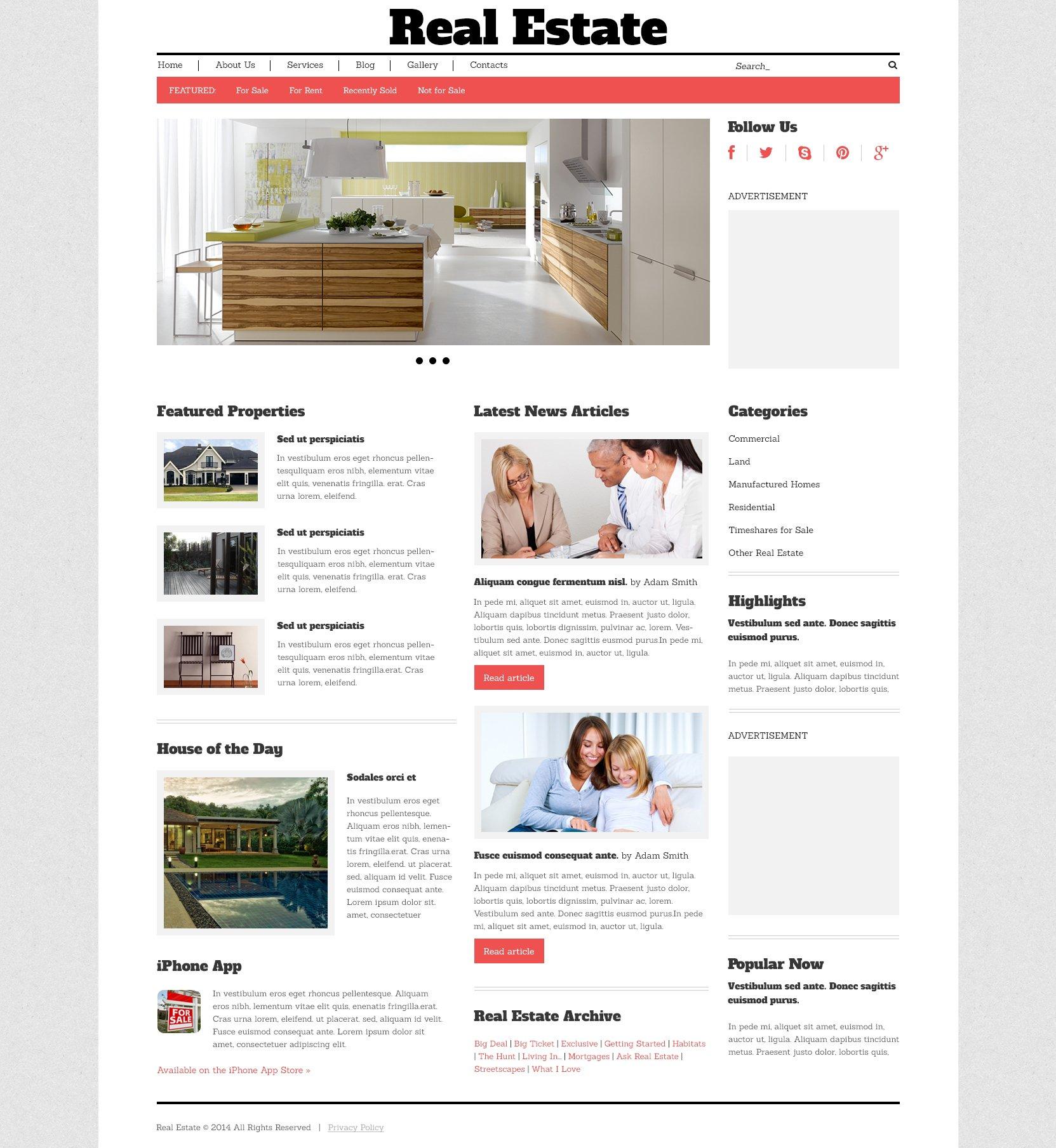Real Estate Agency Responsive WordPress Theme - screenshot