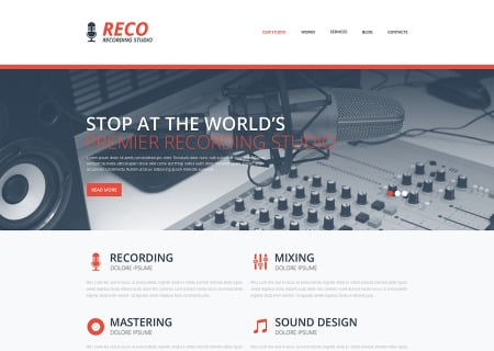 Recording Studio Responsive