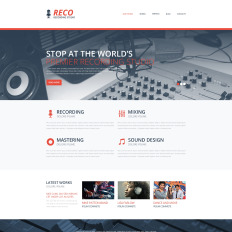 Music web template recording studio bootstrap website template pronofoot35fo Choice Image