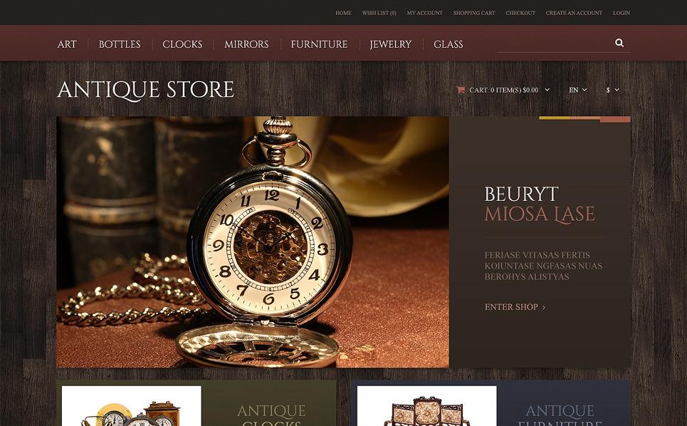 Responsive Antika Mağazası  Opencart Şablon New Screenshots BIG