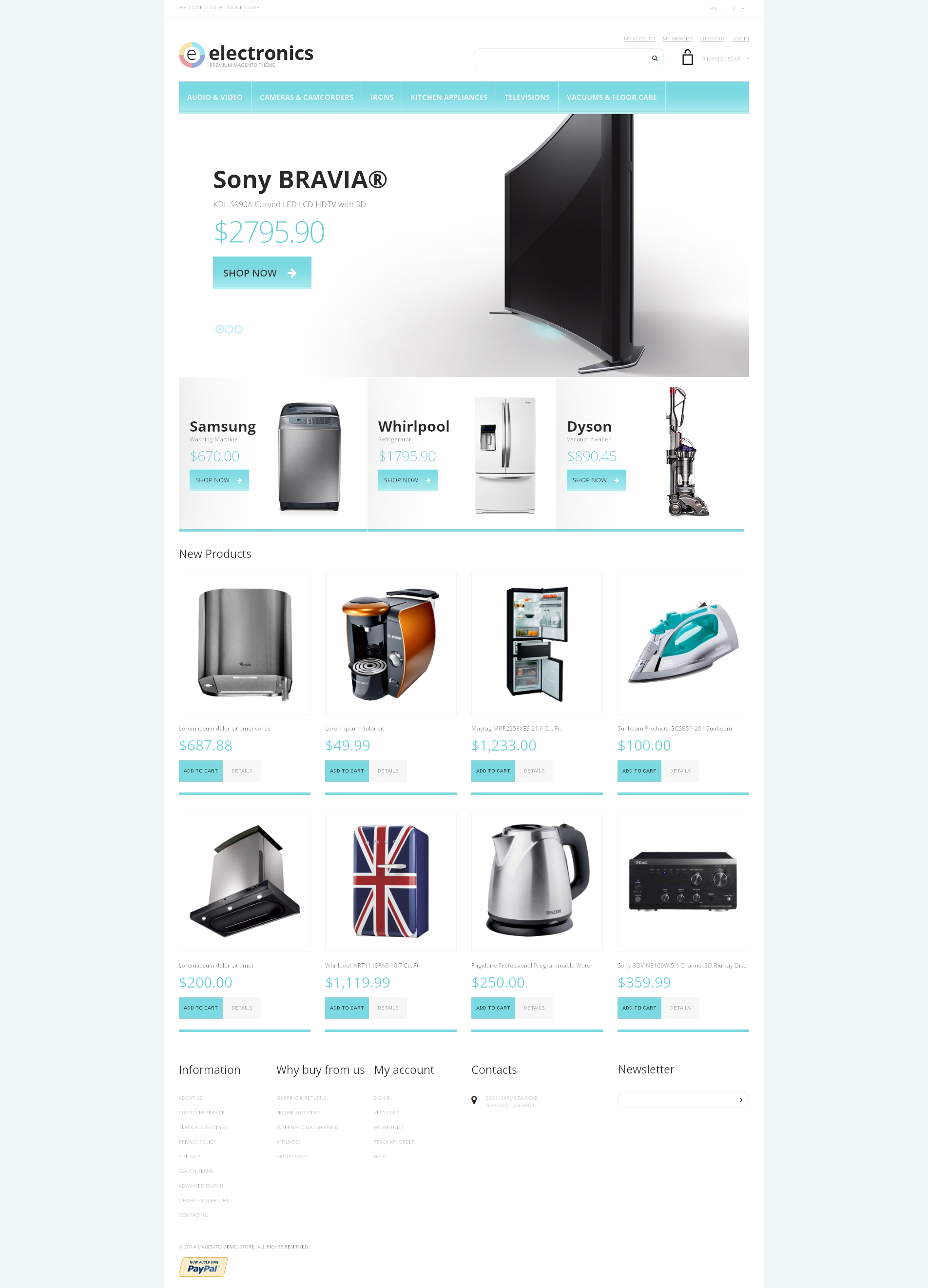 Responsive Magento Thema over Airconditioning №48760