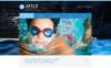 Responsive Website Vorlage für Schwimmschule  New Screenshots BIG