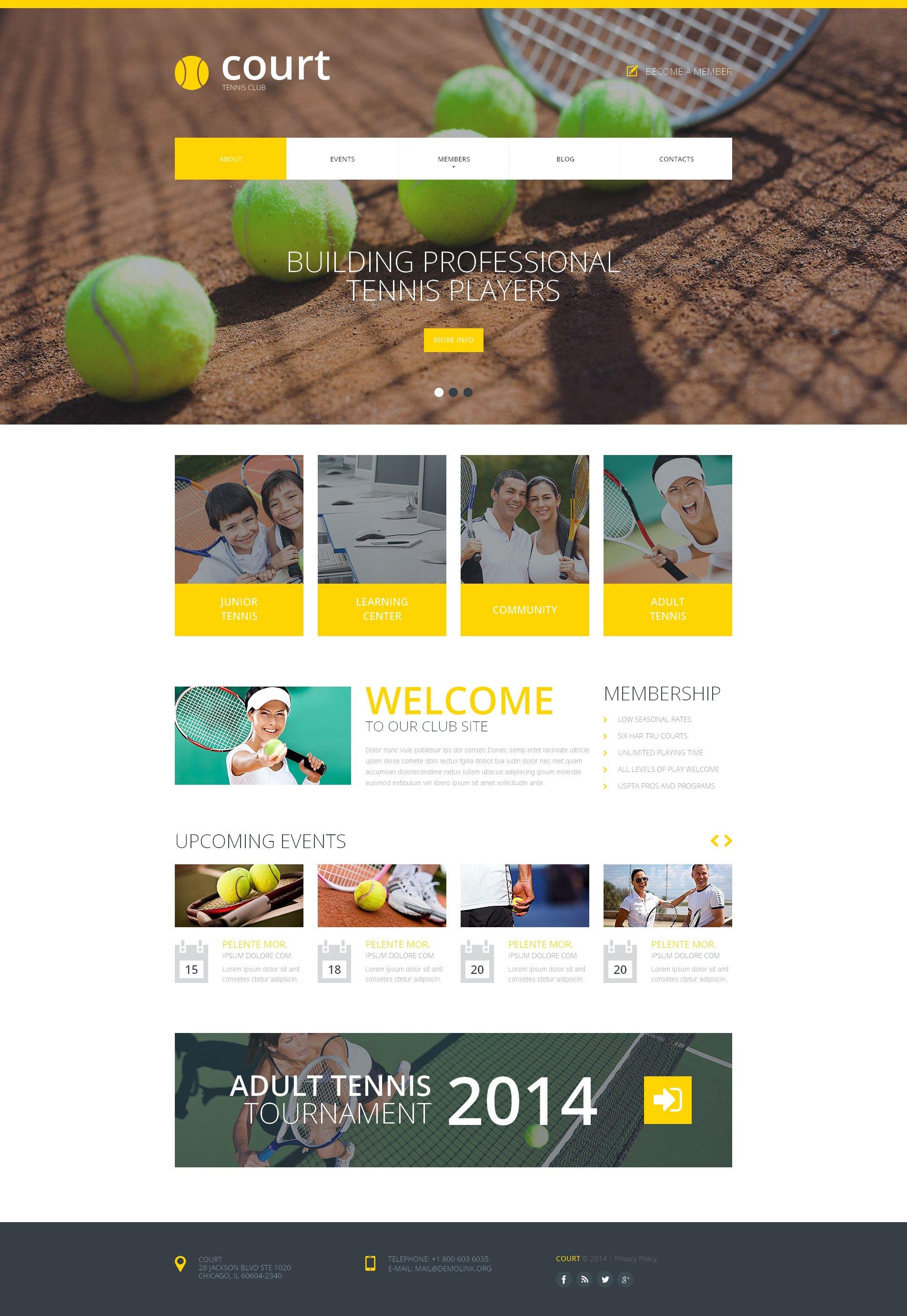 Website Vorlage #48770 für Tennis