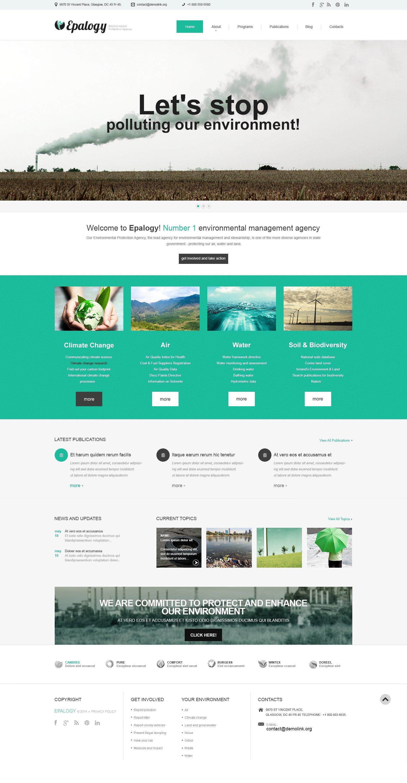 Responsive WordPress thema over Alternatieve energiebronnen №48746 - screenshot