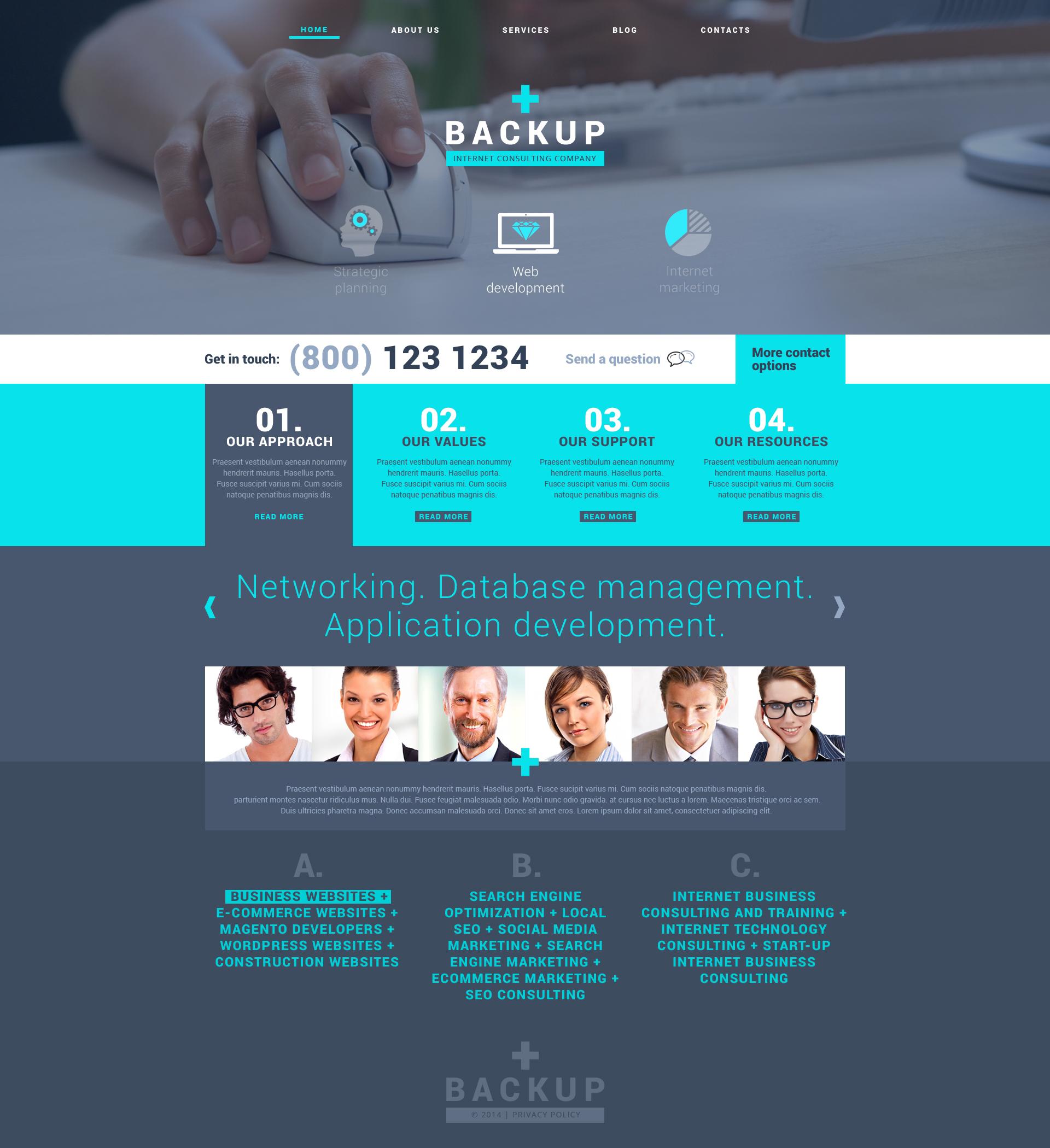 Reszponzív Internet WordPress sablon 48710 - képernyőkép
