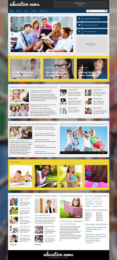 Reszponzív Oktatási  WordPress sablon #48709