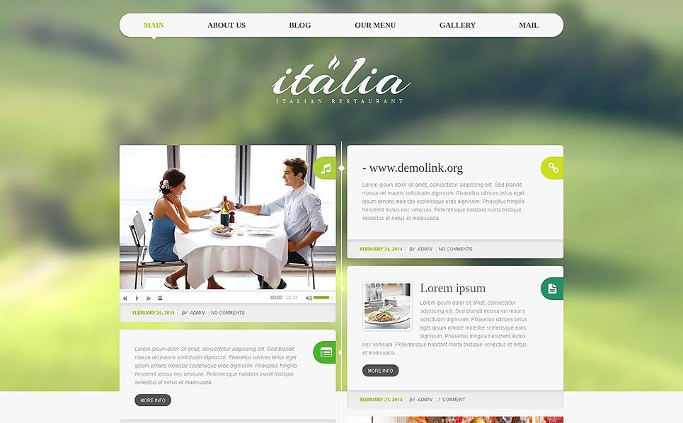 Reszponzív Olasz éttermek WordPress sablon New Screenshots BIG