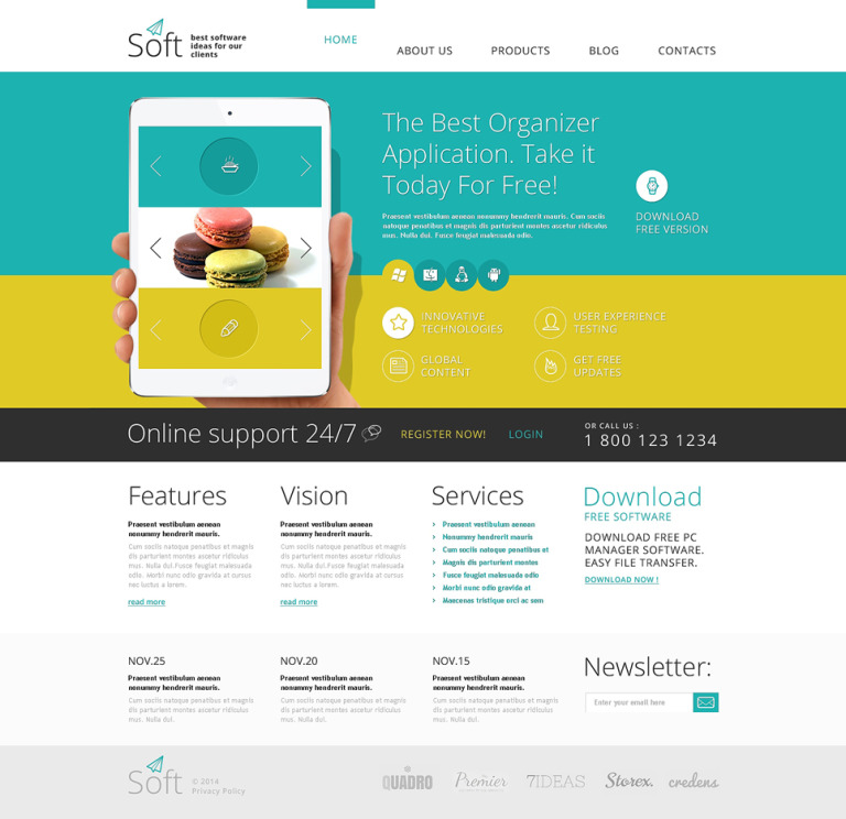 Software Joomla Template New Screenshots BIG