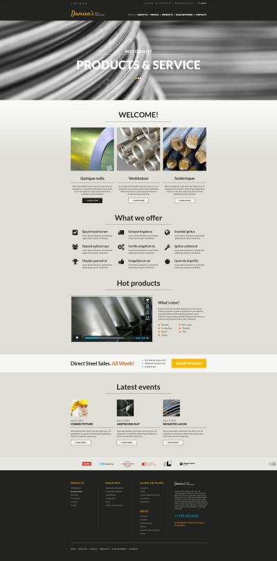 Steelworks Responsive Website Template #48751