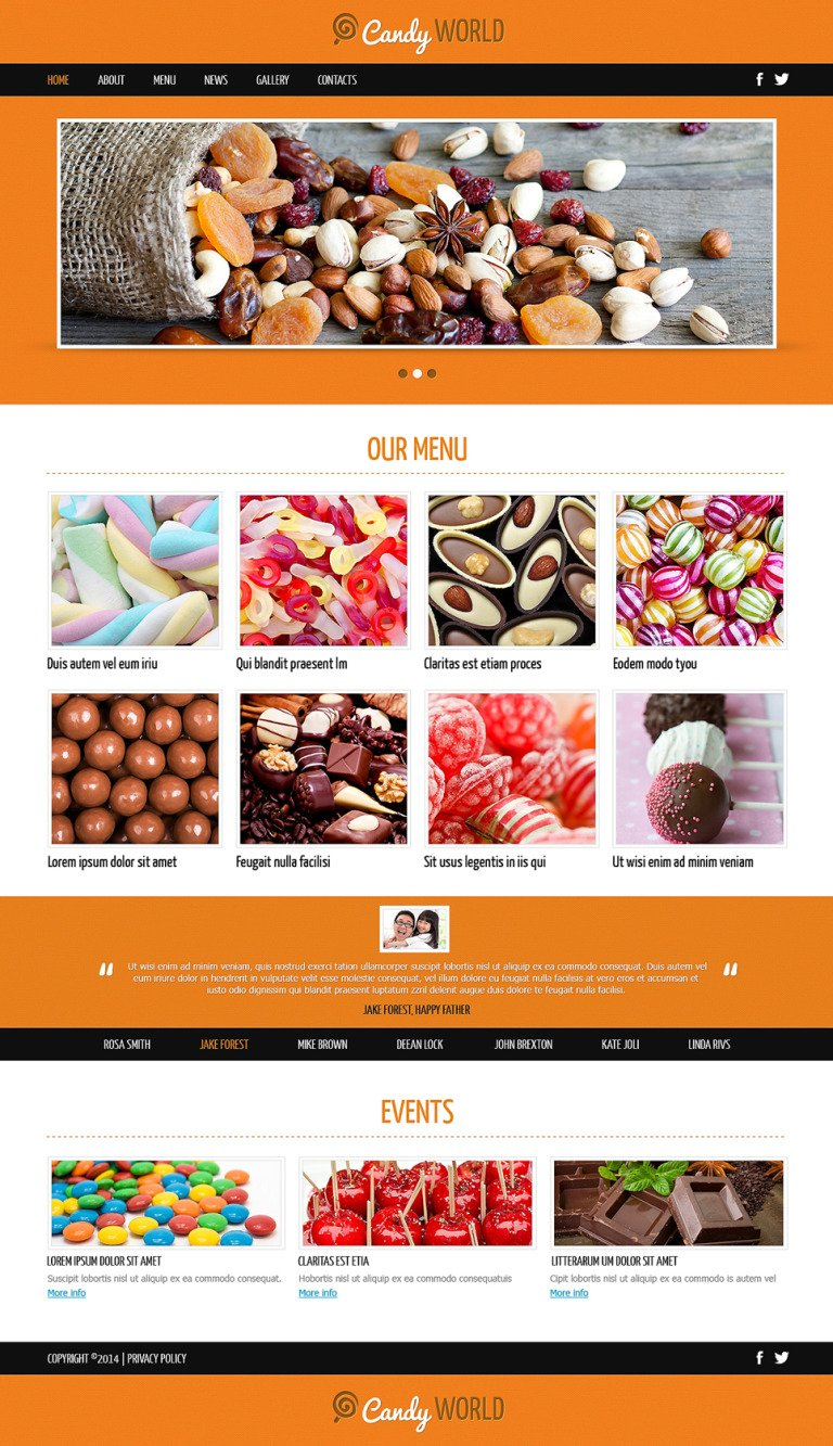 Sweet Shop Responsive Joomla Template New Screenshots BIG