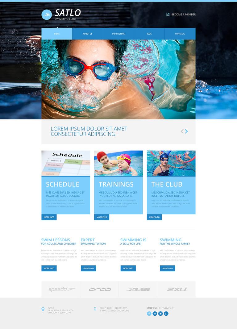 Swimming Responsive Website Template New Screenshots BIG