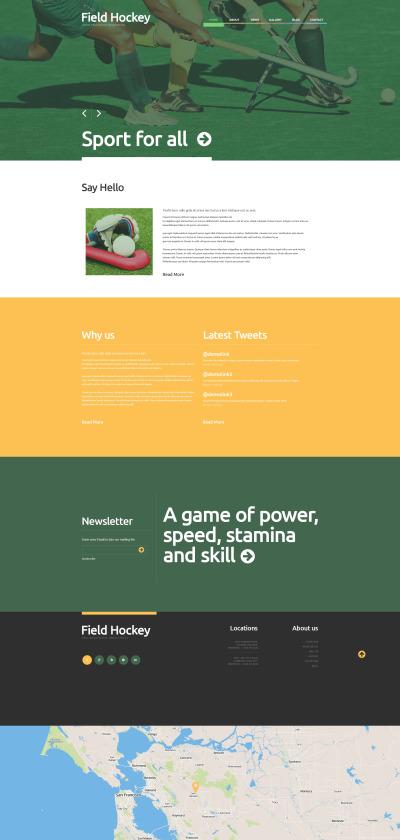 Responsive Tema De WordPress #48788 para Sitio de  para Sitio de Hockey
