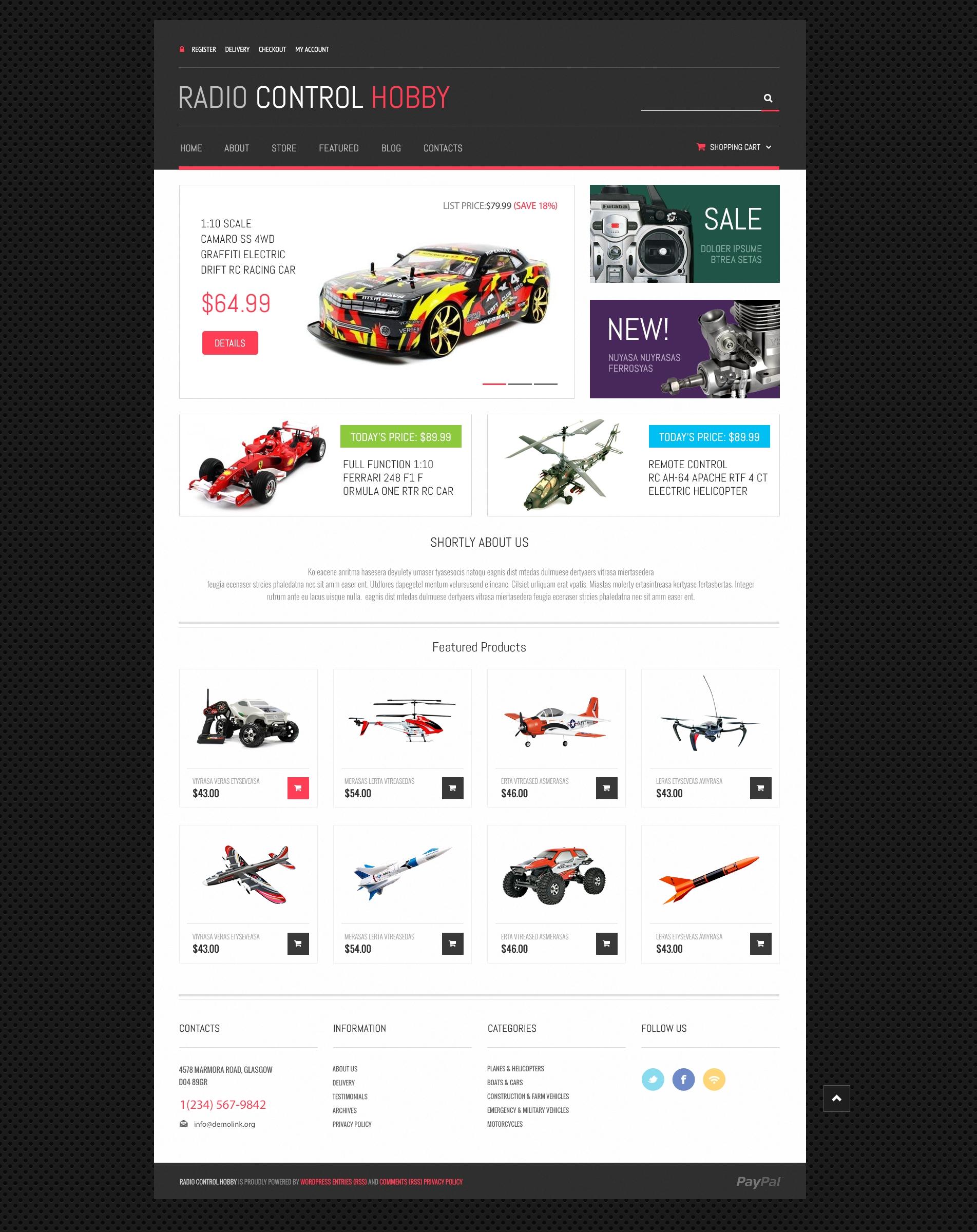 Tema WooCommerce Responsive para Sitio de Tienda de Juguetes #48767