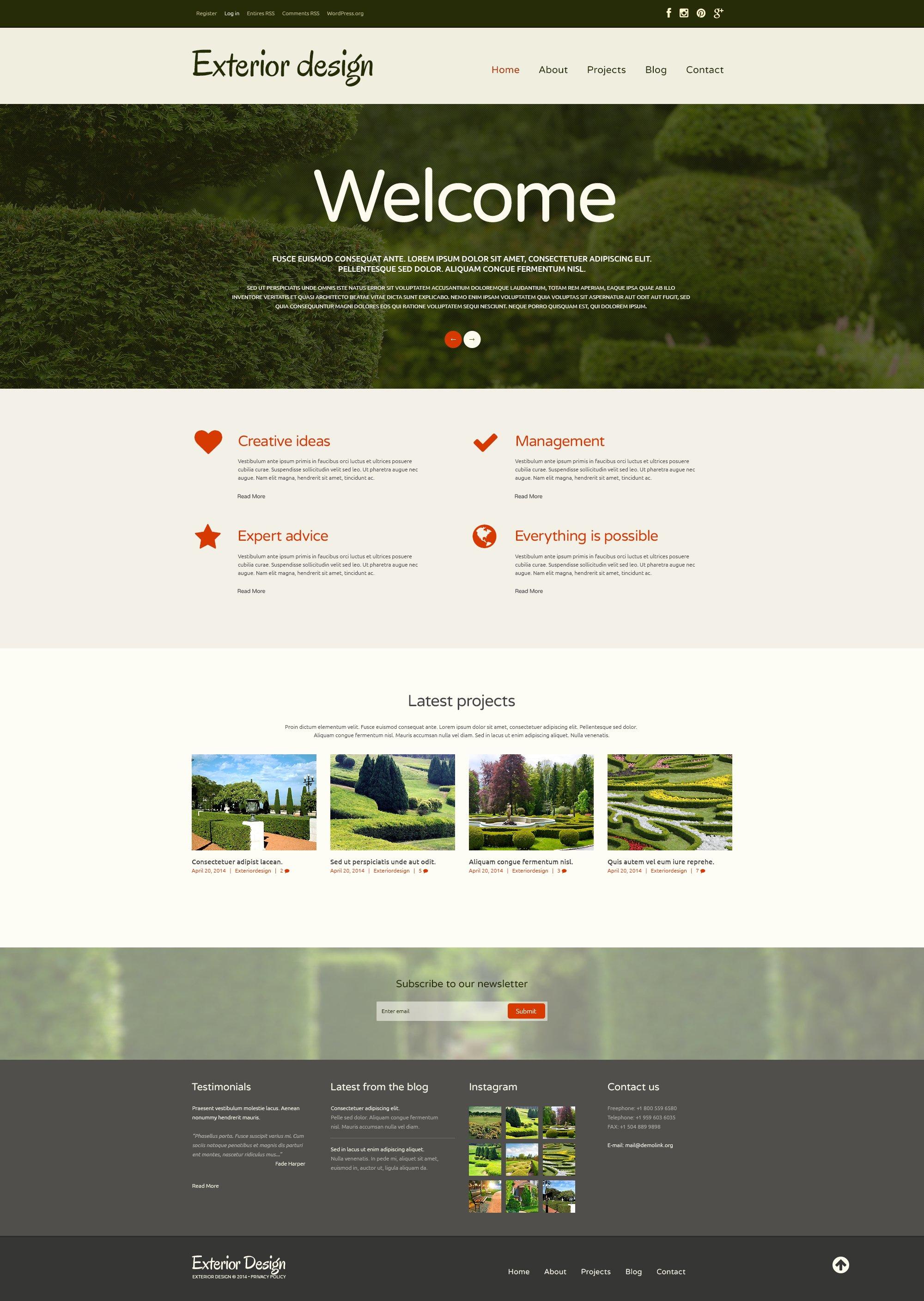 Tema WordPress Flexível para Sites de Designs de Jardim №48779